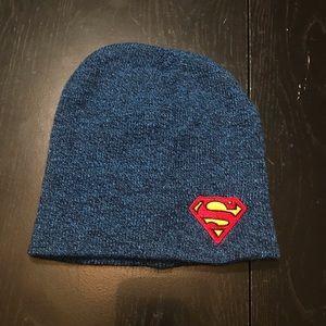 Superman blue thin winter hat